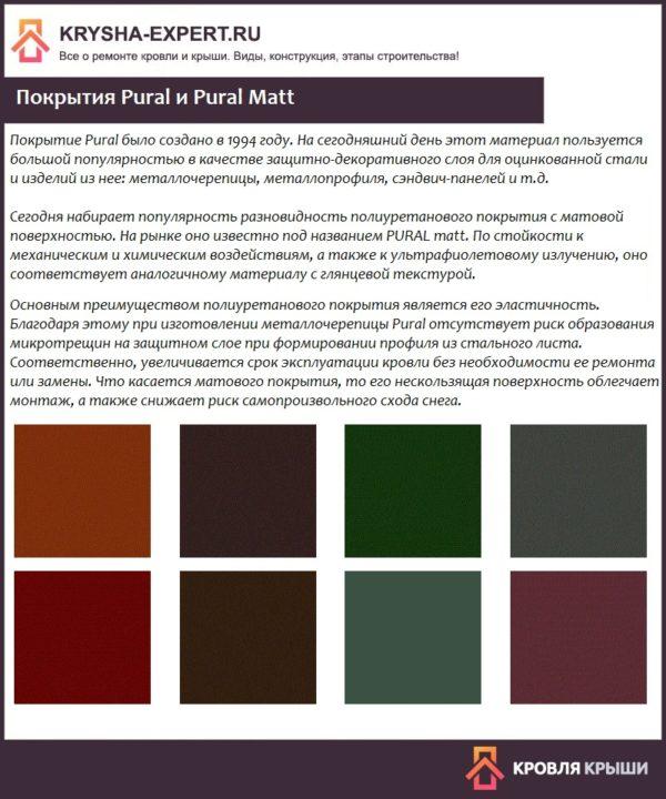 Покрытия Pural и Pural Matt