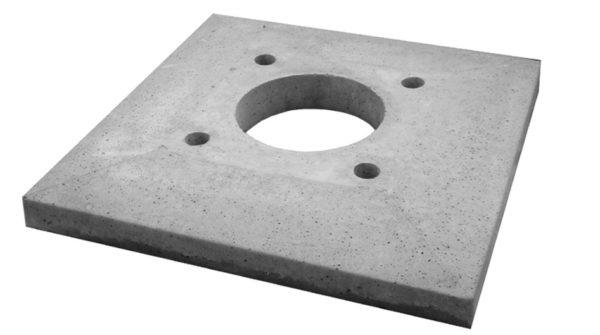 В бетонной плите есть специальные отверстия для фиксации элементов дымохода