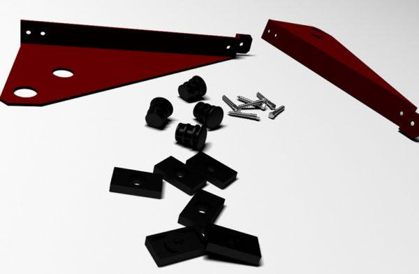 Резиновые уплотнители позволяют регулировать высоту кронштейнов и обеспечивают герметичность примыкания элементов