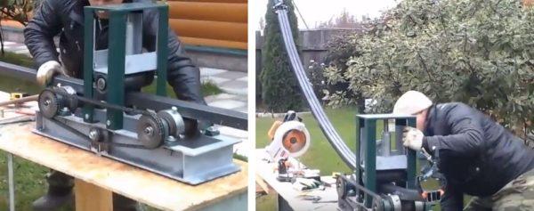 С помощью гибочного станка из заготовок делают дуги требуемого радиуса