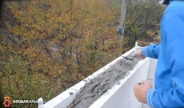 Выравнивание бетонной смеси