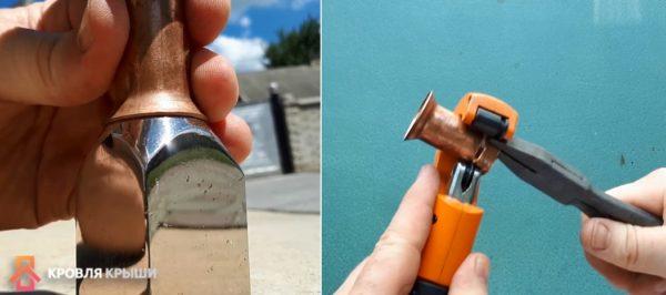Развальцовка трубки и отрезание кольца с края