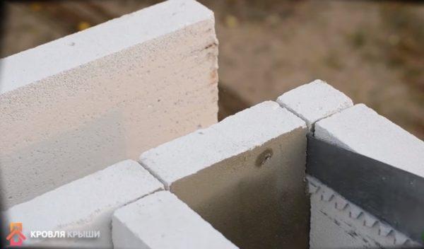 Отпиливание части блока