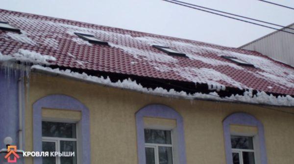 Последствия отсутствия снегозадержателей