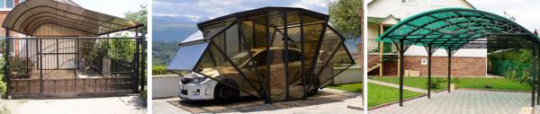 Навесы из поликарбоната могут служить украшением участка