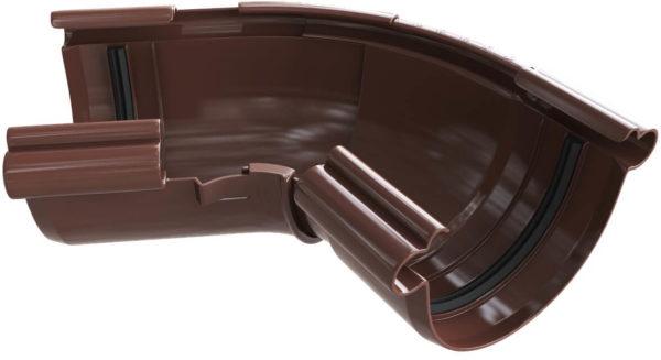 Угол желоба ПВХ регулируемый ТехноНИКОЛЬ 90 °-150 ° коричневый.