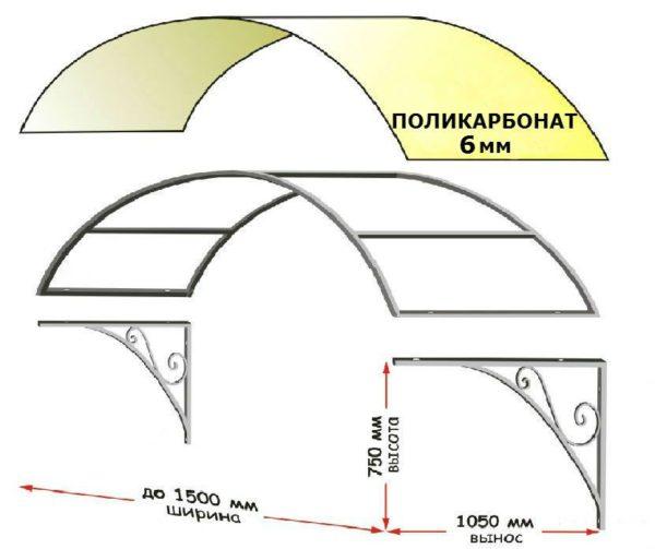Эскиз позволяет точно определиться с количеством элементов и размерами каждой детали