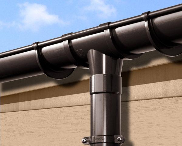 Кронштейны должны соответствовать водосточной системе по всем параметрам, в том числе и по дизайну