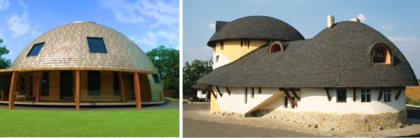 Варианты купольной крыши