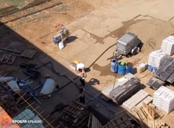 Оборудование для приготовления и доставки раствора на крышу