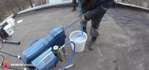 Аппарат для распыления жидкой резины