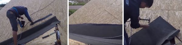 Технология фиксации подкладочного ковра в ендове