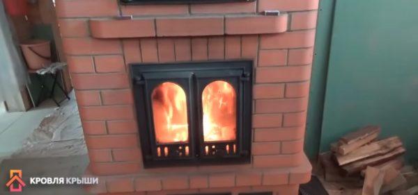 Печь растапливают только после высыхания раствора