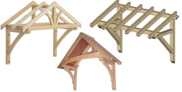 При выборе конструкции козырька нужно учитывать расход материалов и сложность изготовления