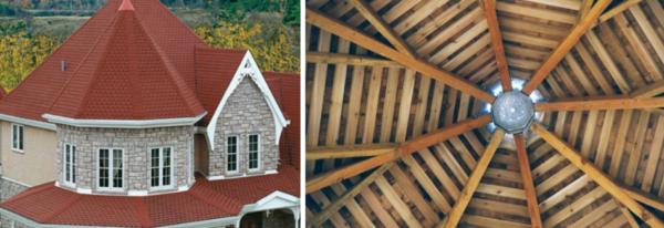Шатровая крыша - вид снаружи и изнутри