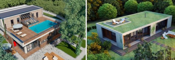 На плоских крышах можно создавать отличные условия для отдыха на свежем воздухе