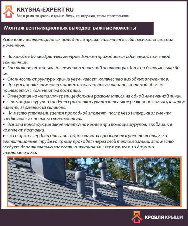 Монтаж вентиляционных выходов: важные моменты