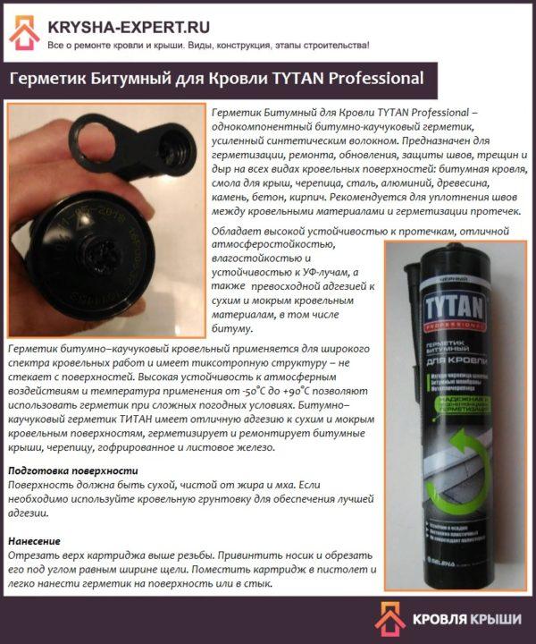 Герметик Битумный для Кровли TYTAN Professional