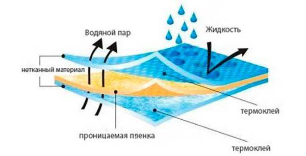Структура строительной мембраны