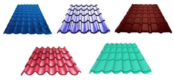 Покрытия отличаются не только цветом, но и формой профиля