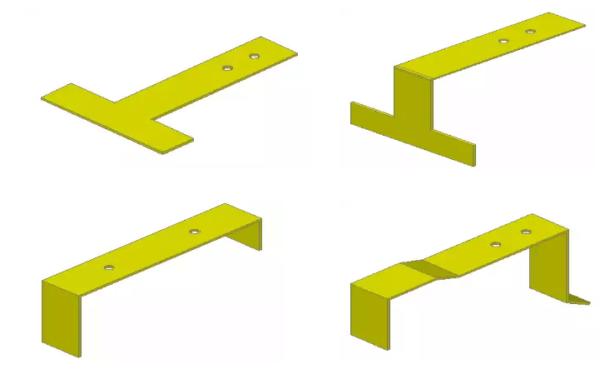 Металлический фартук необходимо плотно закрепить костылями Т- или П-образный, а также сложной формы