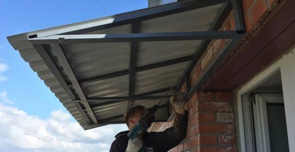 Крыша на балкон: тонкости устройства и эксплуатации