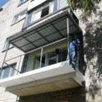 Каркас балкона, как единое целое с крышей