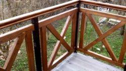 Готовое ограждение – вид с балкона