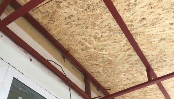 Внутренняя сторона крыши
