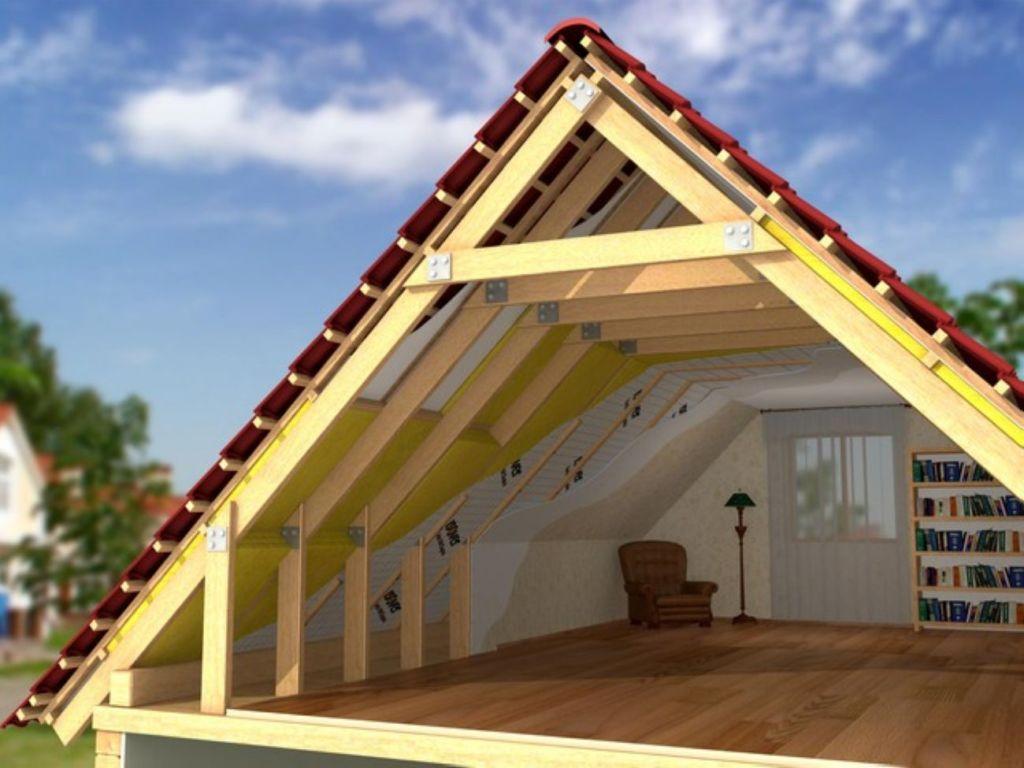 Двухскатная крыша утепленная своими руками 25